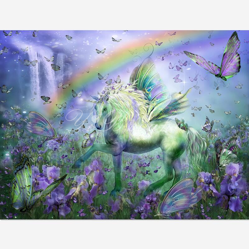 5d DIY Diamond Painting Cross Stitch Unicorn Butterflies beauty Needlework Home Decor 3D Full Square Diamond Embroidery LRR