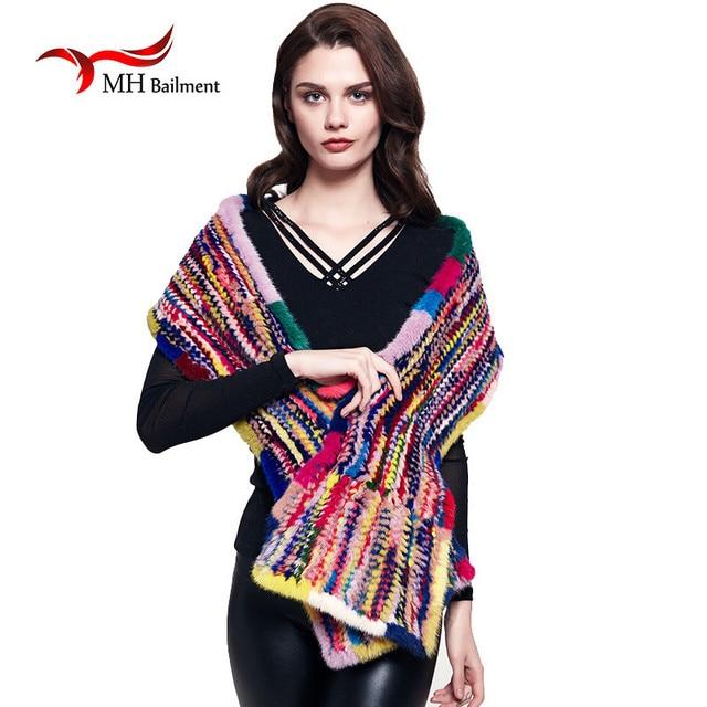 Luxury Women's  Modern men Mink Fur Shawl Good Gift Real Fur Scarf Genuine Mink Scarf Hand Knitted Mink Scarf Winter Fur S#21