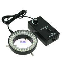Miễn phí vận chuyển 60 LED Có Thể Điều Chỉnh Vòng Ánh Sáng Đèn chiếu sáng Đối Với Ngành Công Nghiệp Kính Hiển Vi Công Nghiệp Máy Ảnh Magnifier