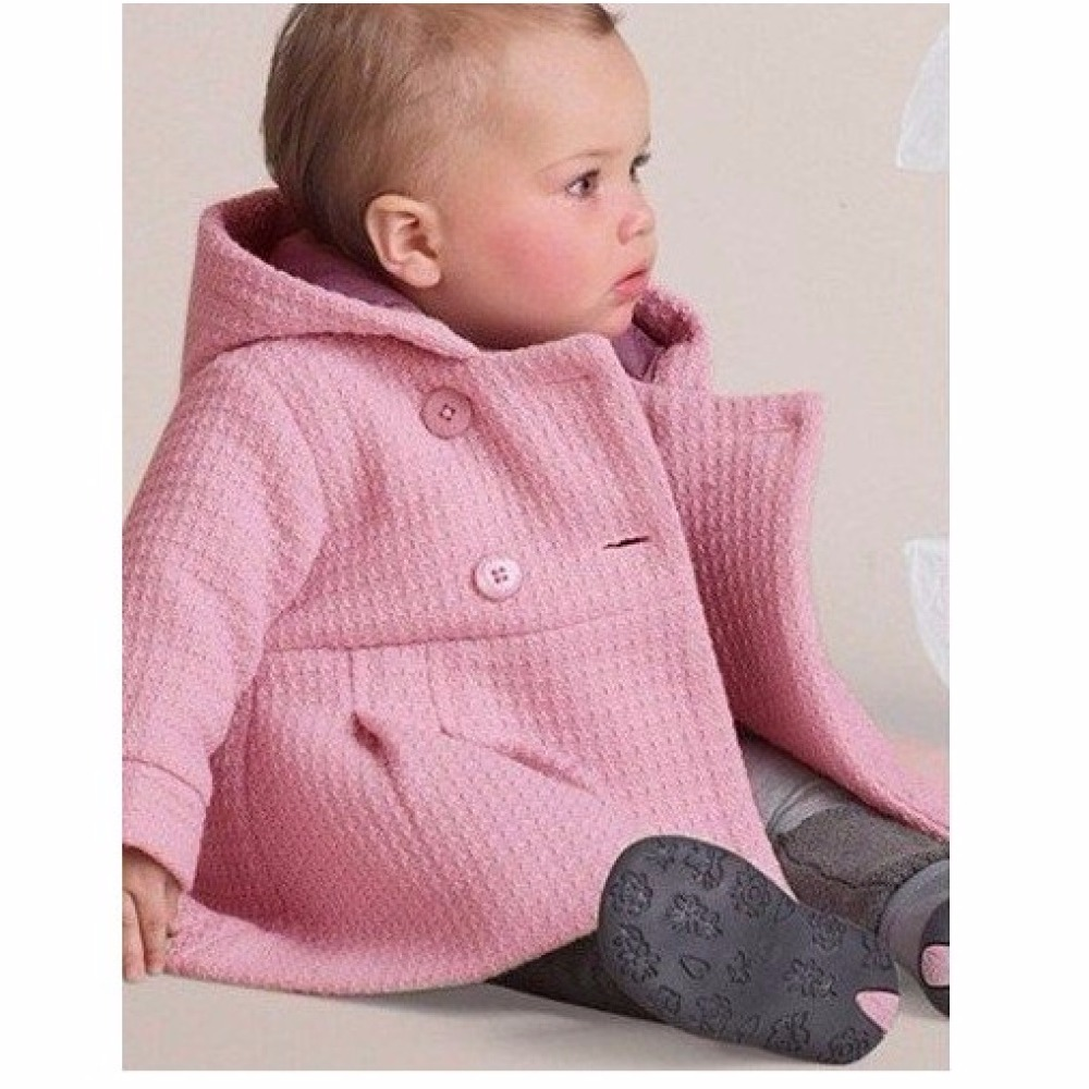 2018 Winter Baby Mädchen Mäntel Infant Jacken Graben Jacke Kinder Mantel  Bebe Poncho Mädchen Mit Kapuze Oberbekleidung Neugeborene Kleidung in 2018  Winter ... 6e1ffed905