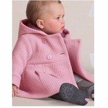 2018 החורף בייבי בנות מעילי מעילים לתינוקות ילדי מעיל מעיל גשם פונצ ו ברדס ילדה Bebe בגדי הלבשה עליונה יילוד