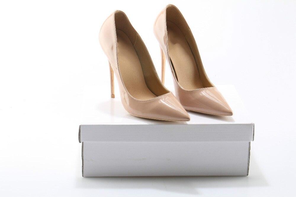 Delgado Señoras Boda Sexy Super Partido Cm Mujer Pointed Tacones Shallow Zapatos 12 Mujeres Moda Toe Desnuda Bombas zwSacEWnCx