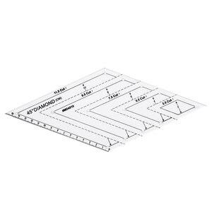 Image 3 - 5x キルティングポリゴン六角形状アクリルテンプレート縫製、キルティングやスクラップブッキング読みやすいマーキング