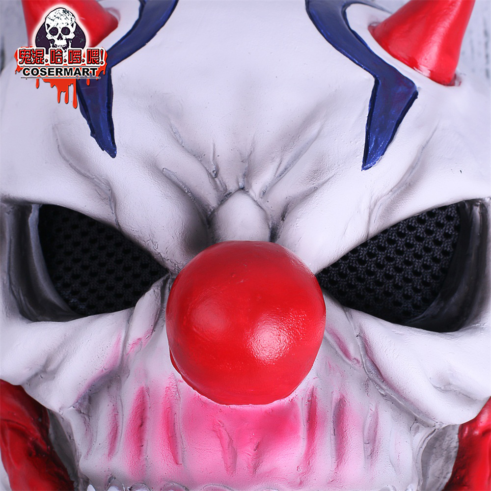 PAYDAY 2 Mask Rust Masks Game Payday 2 mask Cosplay Resin Red Nose Halloween Party Prop (7)