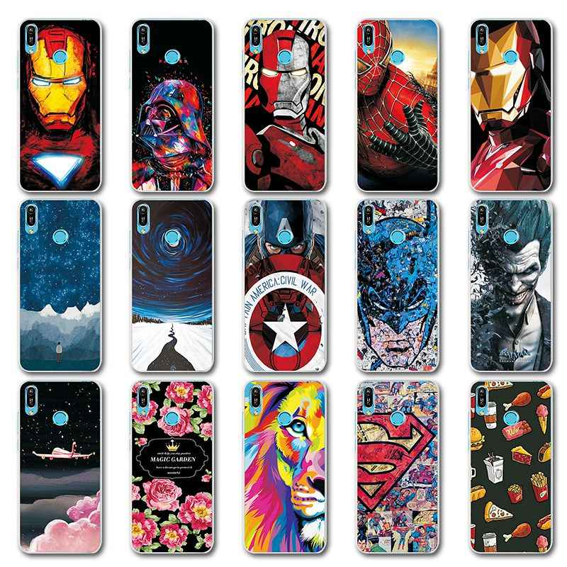 Novelty Phone Bags For Huawei Honor 8A JAT-LX1 Case Bumper For Huawei Honor 8A Iron Man Painted TPU Case Cover  Honor8A 6.09""