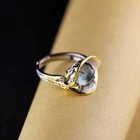 S925, sterling silver jewelry, Calla, grape stone ring,