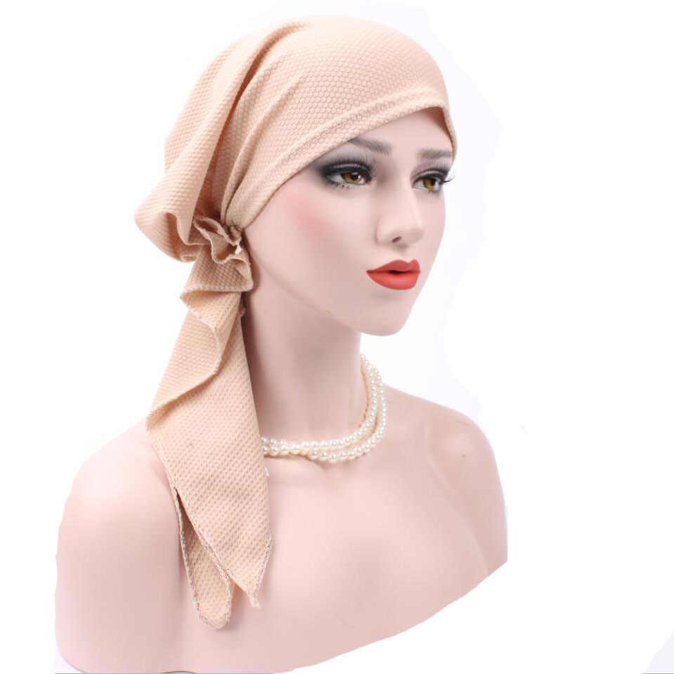 8c97cffba1bbb ... New Women Fashion Muslim Turban Hats Indian Caps Wrap Cap Women Cancer  Chemo Hats For Women ...
