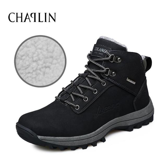 Fashion Men Casual Boots Winter Spring Autumn Comfortable Lace-up Male Zapatos Round Toe Boots Solid Shoes 572
