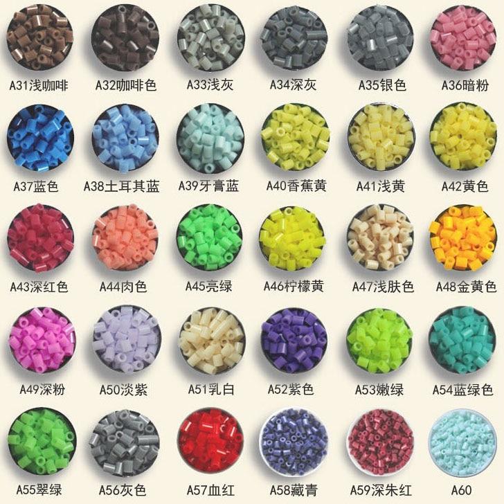 500pcs /bag 2.6mm mini hama beads About kids toys available perler PUPUKOU beads activity fuse beads(China)