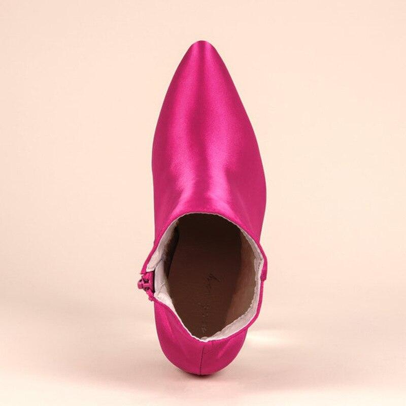 35 Moda Cremallera Rosado Botas Mujer Invierno Zapatos Altos 86 De Femininas Mujeres Rosa Md Punta En Damas 42 Tacones rWqfPwUH0r