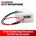 High sensitive microphone and low noise Low energy 6-14V DC Wide Range Microphone for Camera Surveillance DVR Audio pick up