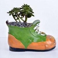 Creative Frog Shoes Flowers Plants Containers Resin Flower Pot Succulent Plant Home Garden Craft Decor Mini
