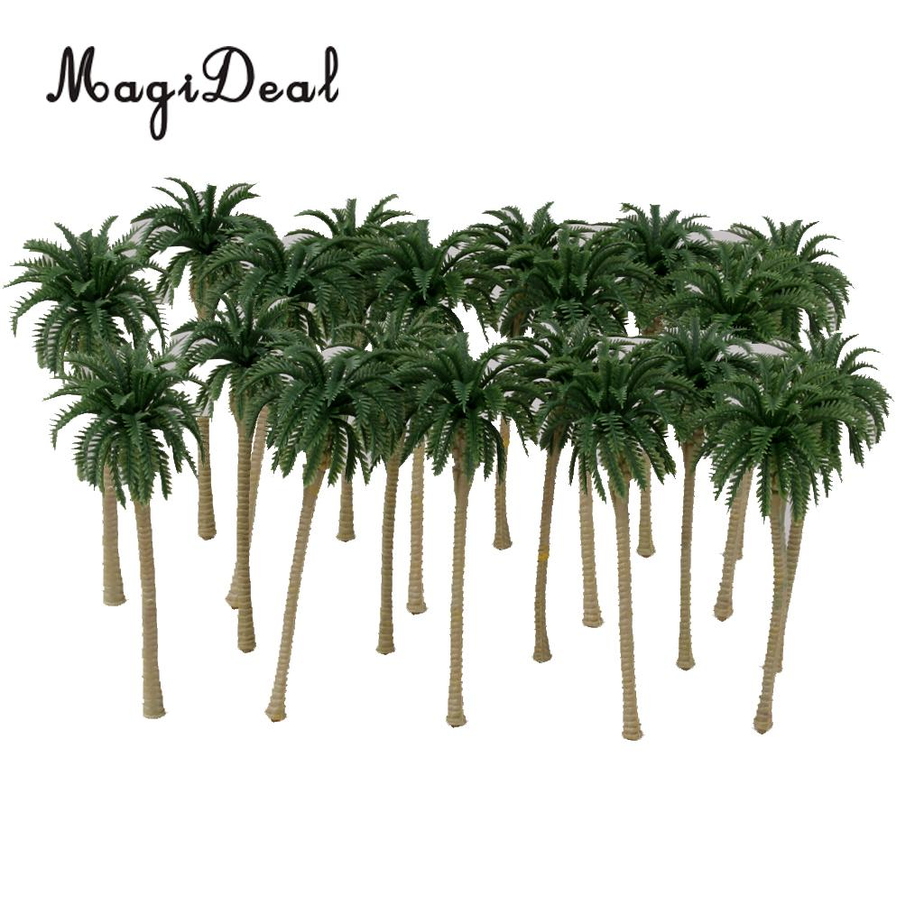 US $8 08 30% OFF|20x 1/120 Model Train Railway Coconut Palm Tree Beach  Rainforest Diorama Landscape Scenery N-in Model Building Kits from Toys &