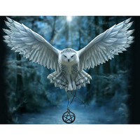 Diy Diamond Painting Cross Stitch Kit 5D Diamond Embroidery Owl Round Drill Rhinestone Pasted Painting Crafts
