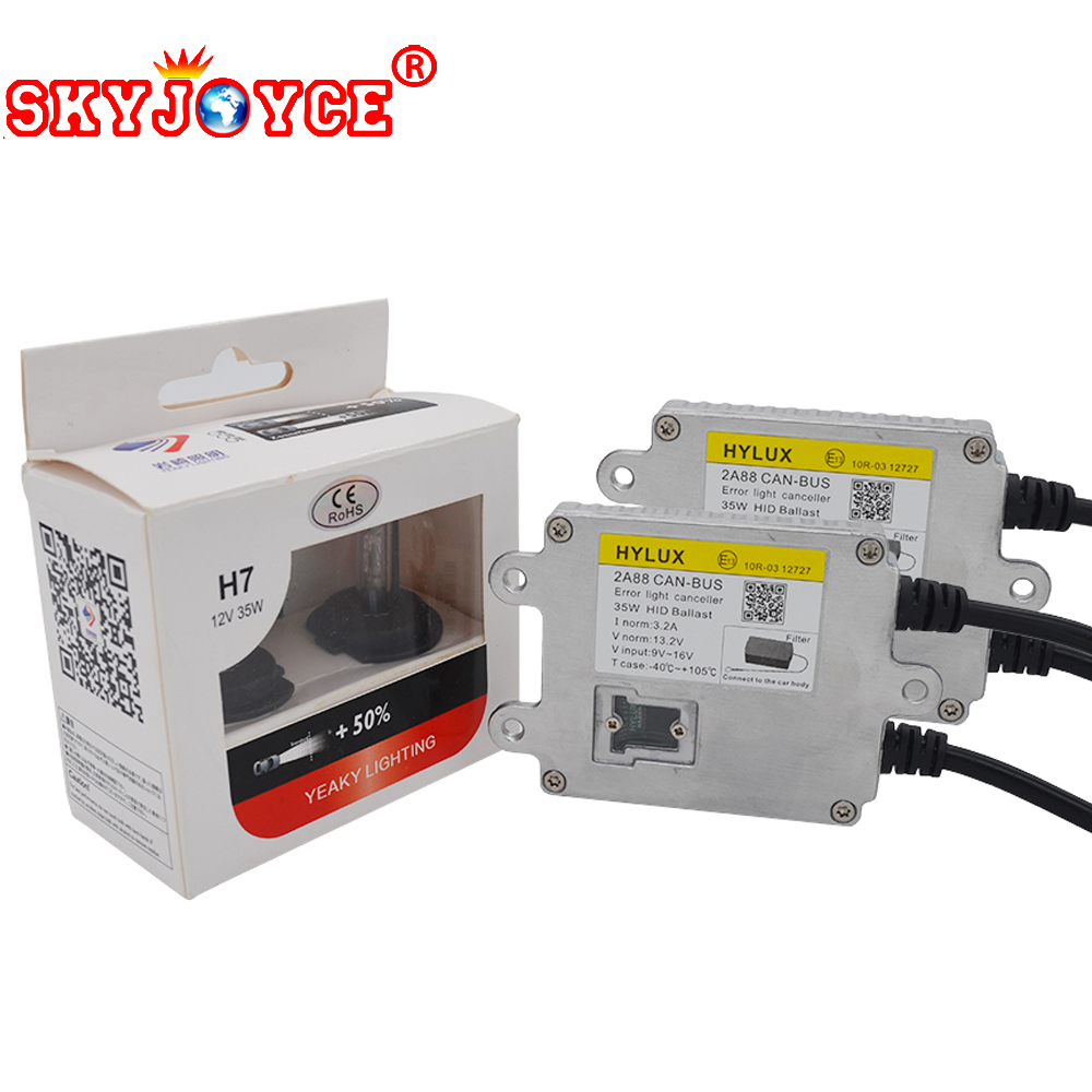 SKYJOYCE 1 Set Canbus HID Xenon Kit H1 H3 H7 H11 9005 9006 Yeaky HID Xenon Bulb 4500K 5500K 6500K Hylux 2A88 Canbus Ballast