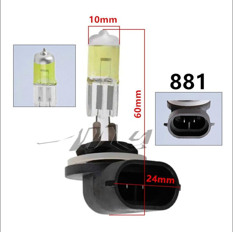 2PCS 881 894 H27 Halogen ampullər 27W faralar üçün duman - Avtomobil işıqları - Fotoqrafiya 4