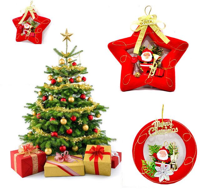 2017 High Quality Christmas Tree Fruit Pendant Decoration Supplies Festival Party Ornament Drop Ship 28