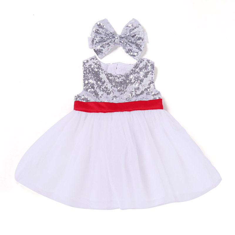 Summer Girls Dresses New Fashion Girl Dress Elegant Sequin T-Shirt Princess Lace Dresses Children Dresses For Girls Dresses(China)