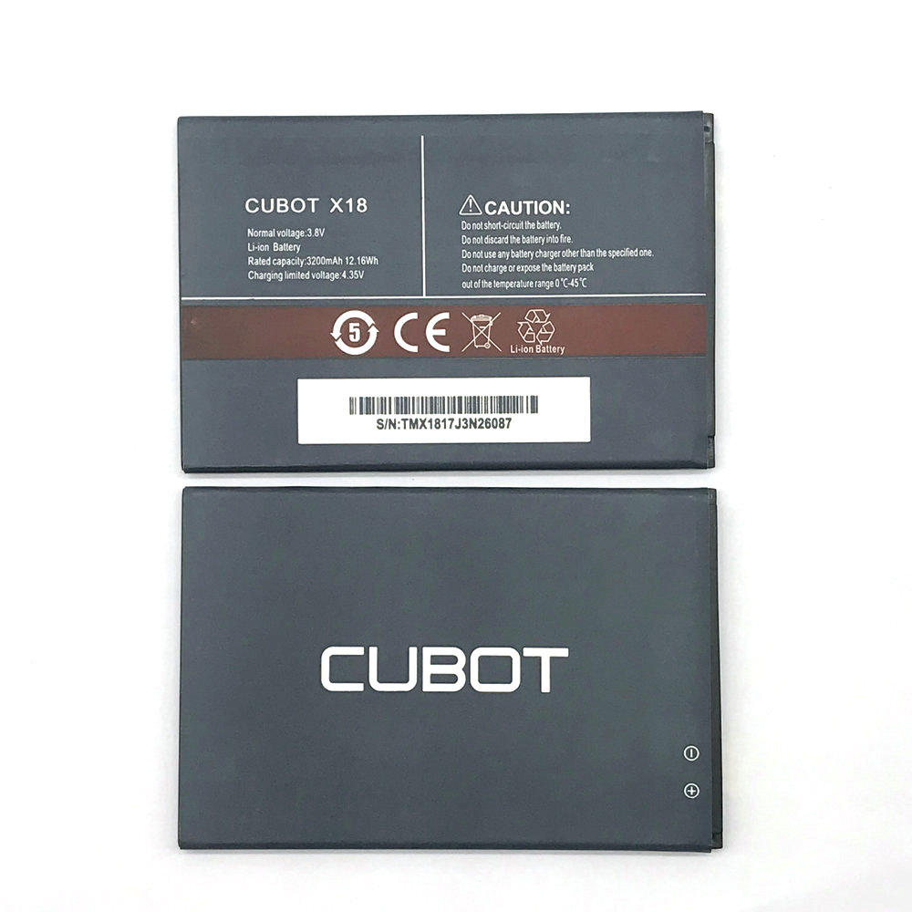 3200mAh High Quality <font><b>Battery</b></font> Rechargeable For <font><b>Cubot</b></font> <font><b>X18</b></font> Mobile Phone Batterie Bateria image