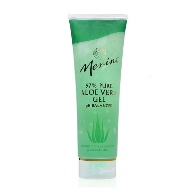 Merino 97% pure aloe vera gel 250g Tube First Aid for Burn &Scar, moisturizing healing body care gel, relief of windburn sunburn