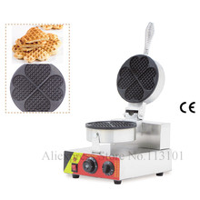 Commercial waffle maker single head four parts heart-shape waffle machine stainless steel street snack machine hot selling