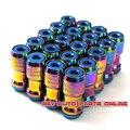 44mm Steel Volk Rays Neochrome Rainbow M12x1.5/M12x1.25 Racing Car Wheel Lug Nuts