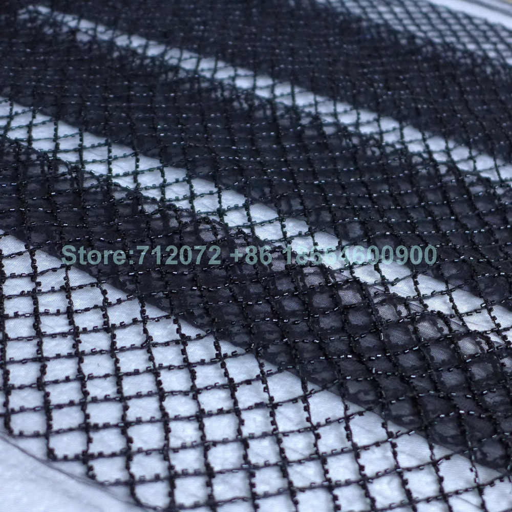 La Belleza Siyah/şarap/kapalı beyaz boncuklu net düğün elbisesi kumaş blackround/astar 51 ''genişlik