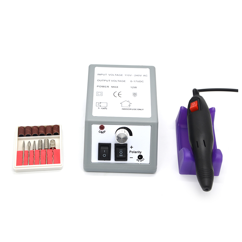 Electric Nail Drill Manicure Set File Nail Pedicure Pen Machine Set Kit With Extra Ceramic Nail Drill Bit Sanding bands
