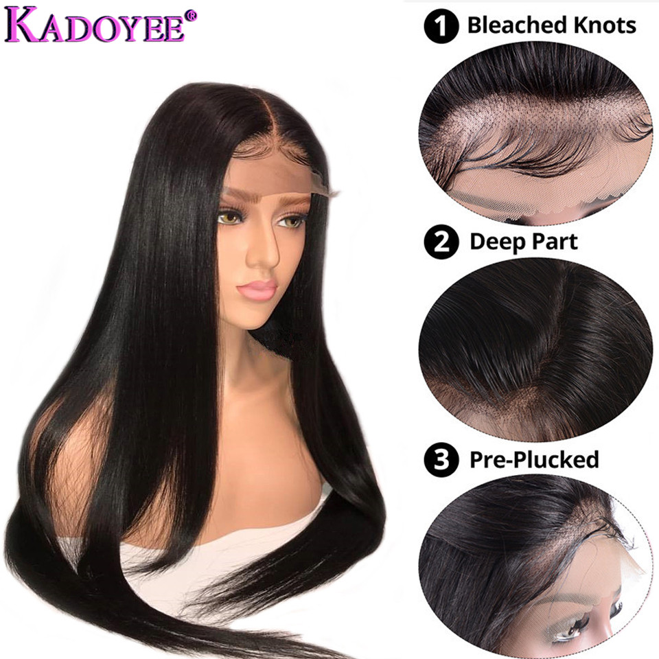 13x4 Human Hair Wigs Pre Plucked Malaysian Lace Front Wig With Baby Hair for Black Women
