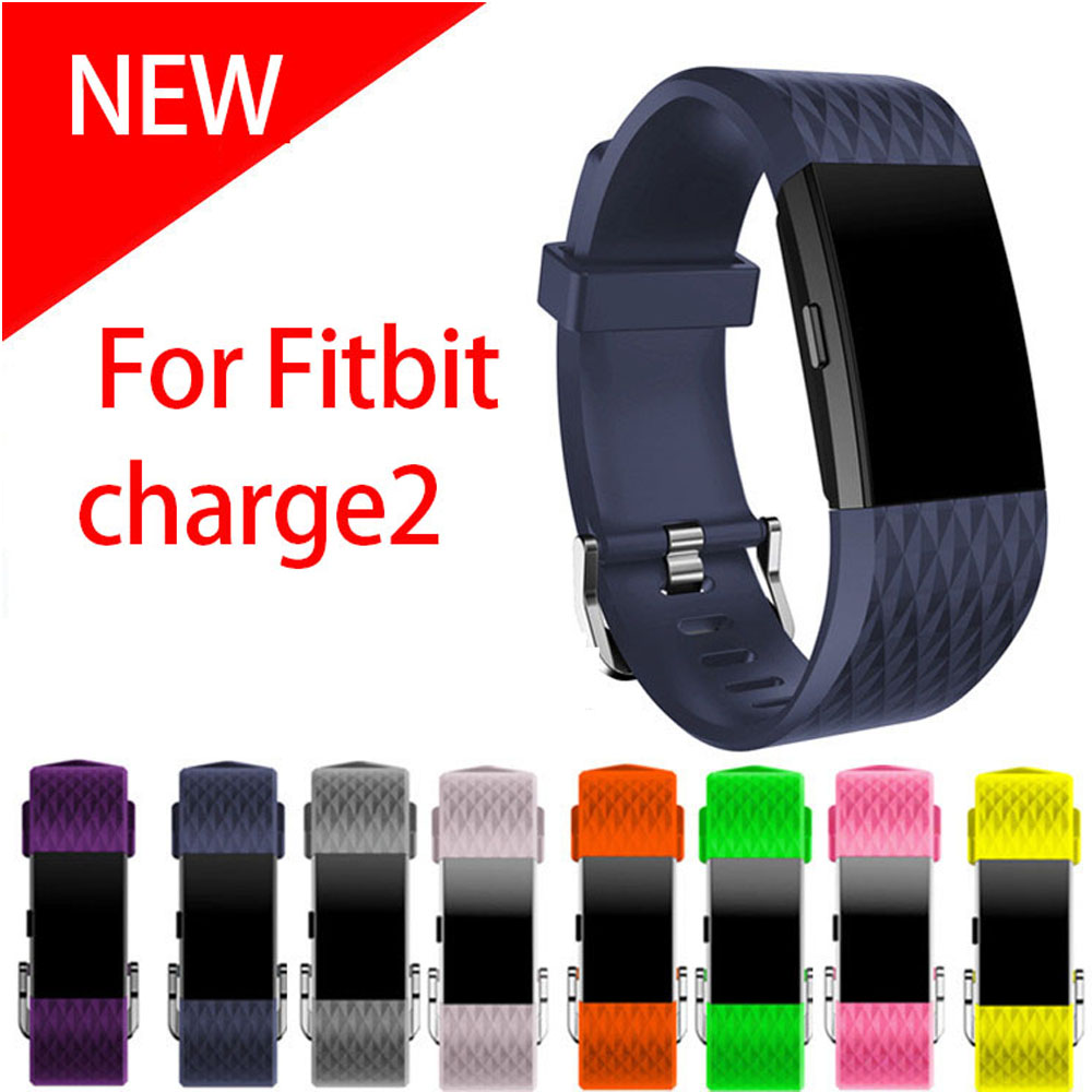 Small and Large Size silicone Watch Band For Fitbit Charge 2 Sport Watch Strap Bracelet men & women watchbands 2016 new genuine leather soft wrist band watch strap for fitbit charge 2 tracker large small bracelet replacement acessory