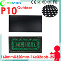 Lowest price outdoor smd led module p10 pixel pitch 10mm 16x32 160x320 rgb matrix, outdoor diy led sign module p10 p8 p6