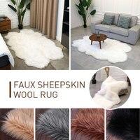 Fluffy Rugs Wool Carpet Dining Room Mat 180X110cm Irregular Shape Luxurious Carpet Floor Warm Home