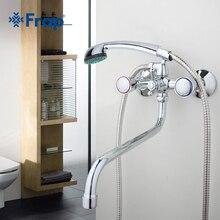 Long nez tuyau de sortie d'eau salle de bains robinet Baignoire mélangeur Deux-poignée contrôle F2209