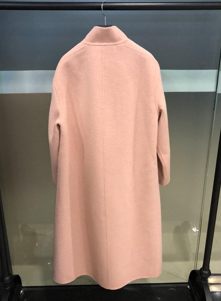 jaune Mode Nouveau Plus Pardessus Haute Beige 100 De D'hiver Double Femmes Taille Coréennes Femelle 2018 Russe rouge La fin rose Manteau noir Laine Boutonnage SqPSwUvg6x