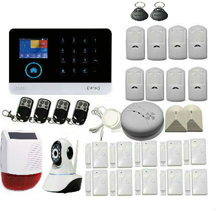 Yobang Security 8 languages Wireless Home Security WIFI 2G GPRS GSM Alarm system APP Remote Control RFID burglar alarm yobang security rfid gsm gprs alarm systems outdoor solar siren wifi sms wireless alarme kits metal remote control motion alarm