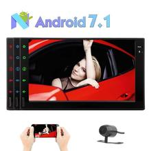 """Octa Core Android 7.1 Car Radio Stereo Bluetooth GPS Navigation 2din In Dash 7"""" Support Mirror Link WIFI OBD2 DVR+Backup Camera"""