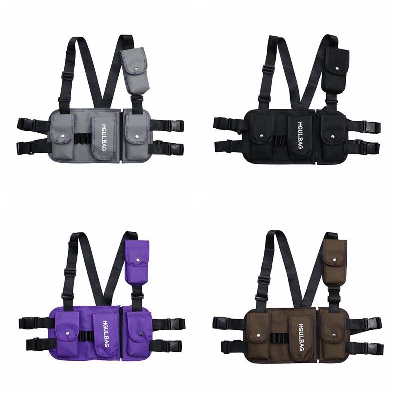Adult Chest Rig Waist Bag Streetwear Functional Tactical Hip Hop Shoulder Bag Multipurpose Sport Backpack Crossbody Bags 4 Color