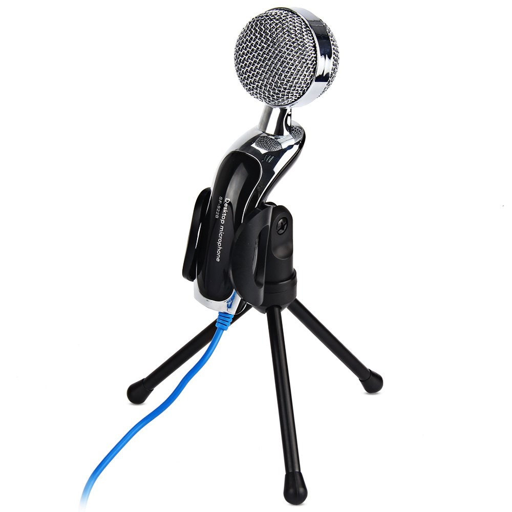 Professional SF 922B Sound font b USB b font Condenser Microphone Podcast Studio For PC Laptop