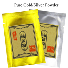One gram 99.9% Real gold powder,99.9% silver leaf, Repair meal, be made from Genuine and
