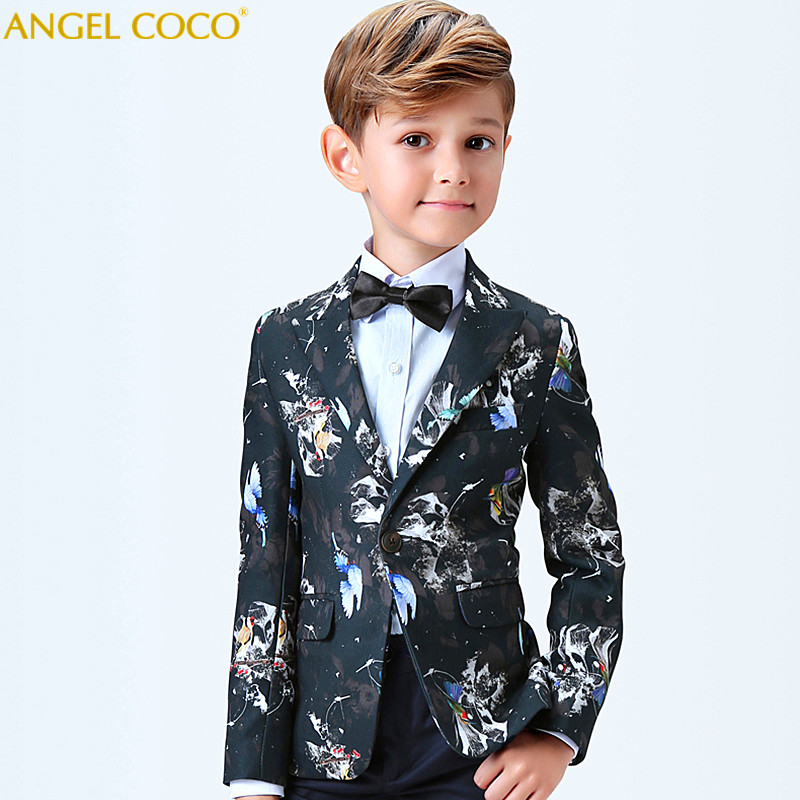Royal Aristocracy Boy Suit for Weddings Prom Party Children Suit Sets Boys Tuxedo Formal Vest Pants Classic Costume Garcon 2018 winter children boys formal sets 5 pcs woolen blend coat pants vest shirt tie costume wedding birthday party gentleman boy suit