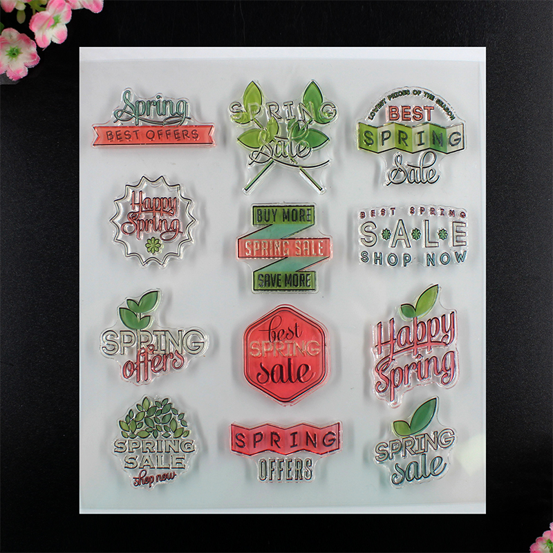 Happy Spring Scrapbook Clear Stamp photo cards account rubber stamp  Embossing Folder card Stamp thank you my friend you are the best scrapbook clear stamp photo cards account rubber stamp embossing folder card stamp
