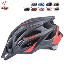 цена на MOON Cycling Helmet Ultralight Integrally-molded Bicycle Helmet MTB Bike Update Model Helmet Road Mountain Riding Equipment