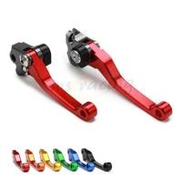 CNC Motorcycle Billet Foldable Pivot Clutch Brake Lever For HONDA CR125R CR250R CRF250R CRF450R CRF250X CRF450X