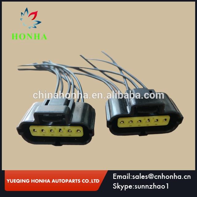 6 Pin MAF Mass Air Flow Sensor wireharness Connector Plug Clip
