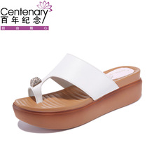 2018 Simple White Crossover Flat Sandals Women Fashion Flip-flops Beach Shoes