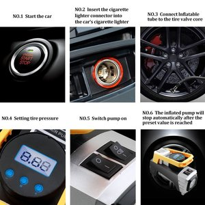 Image 4 - Air Compressor Pump, Digital Tire Inflator DC 12V 120W 150 PSI Car Air Pump with Auto Shut Off Gauge and Powerful Emergency