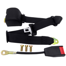 Universal Retractable Seatbelt 3 Point Car Safety Seat Lap Belt Automotive Adjuster Latch Locking  For