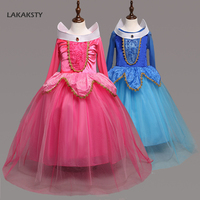 Children S Dress Girls Performance Dresses Sleeping Beauty Aurora Princess Full Sleeve Cosplay Costume For Baby