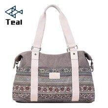 2019 New Women handbag Canvas shoulder bags Tote Ladies Vintage Womens Shoulder National Style Large capacity Sac a main