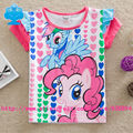 Flags 5pcs/lot 18m-6y Cute kids Cotton Costume cartoon anime figure for girl my little pony T-shirts Girl summer ClothesG6131